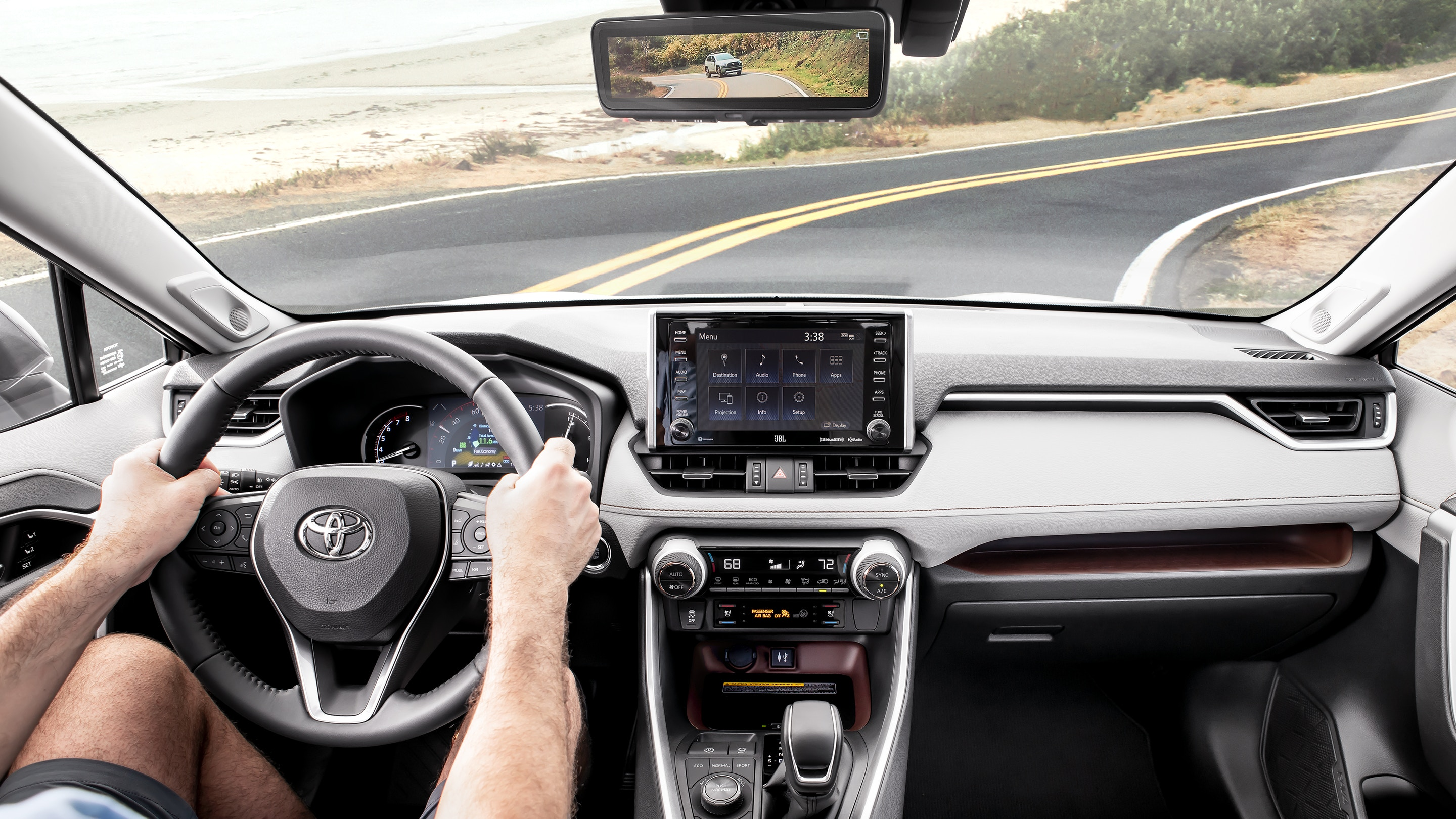 Interior of the 2019 Toyota RAV4