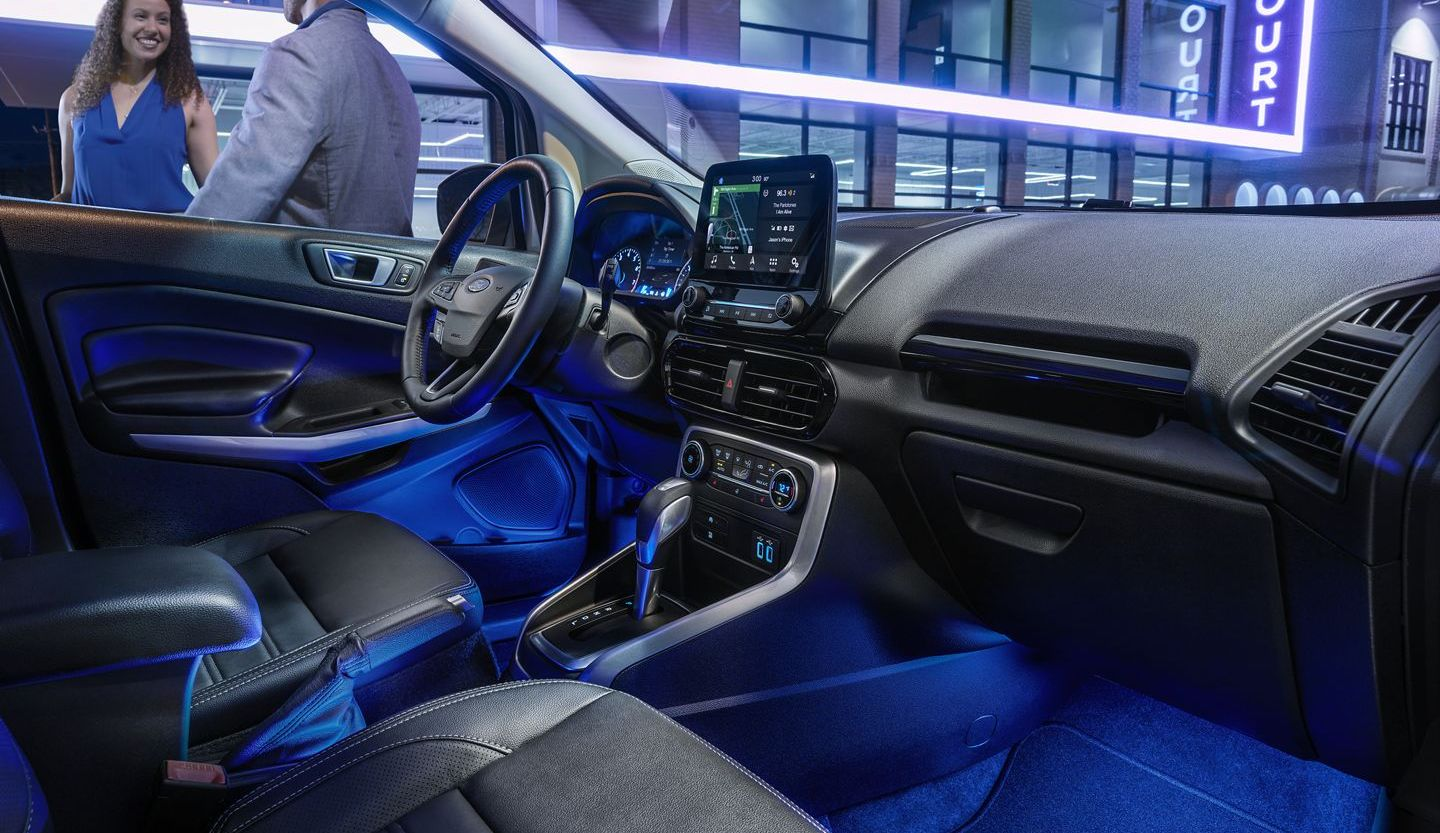 Optional Ambient Lighting in the 2019 Ford EcoSport