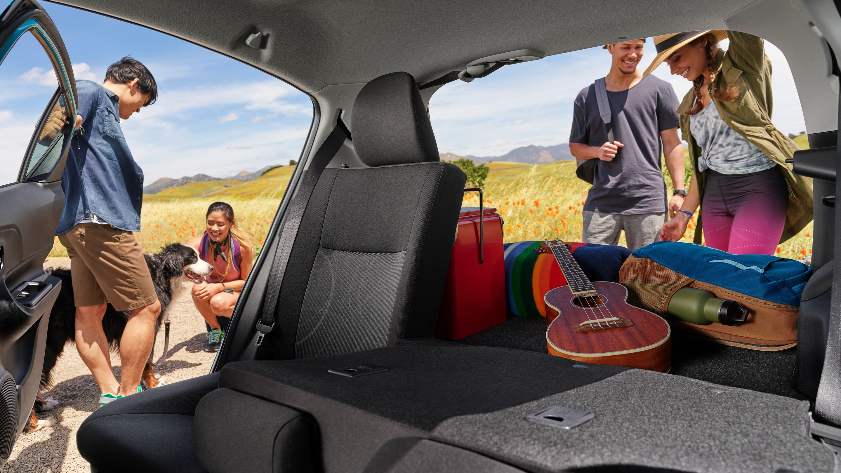 Cargo Area of the 2019 Toyota Prius c