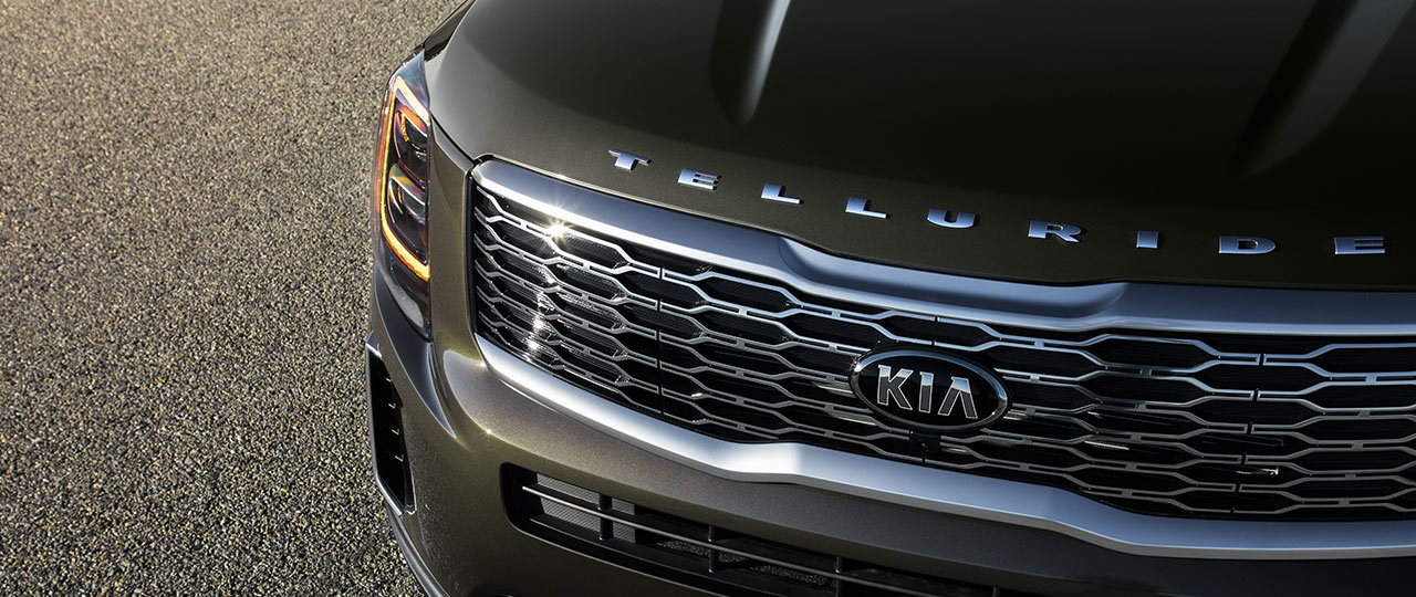 Elegant Grille of the 2020 Kia Telluride
