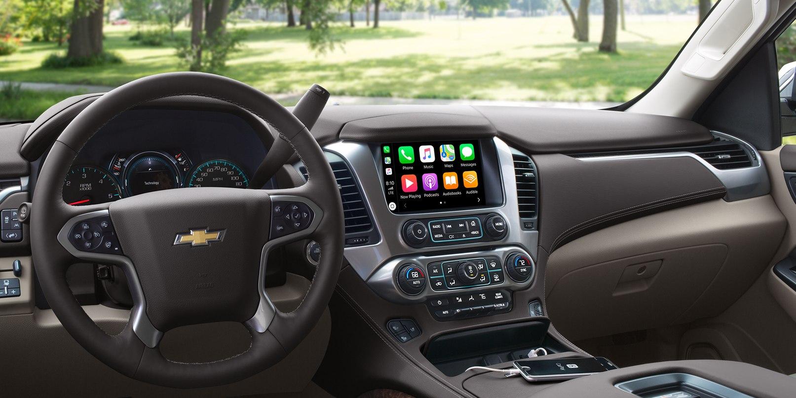 Interior of the 2019 Chevrolet Tahoe