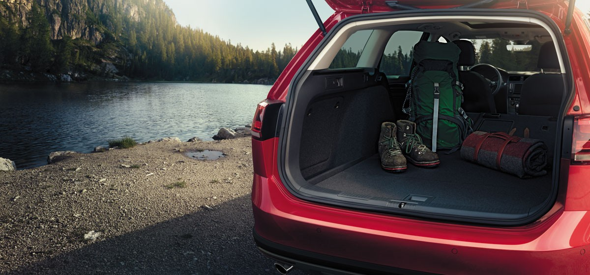 Cargo Space inside the Golf Alltrack