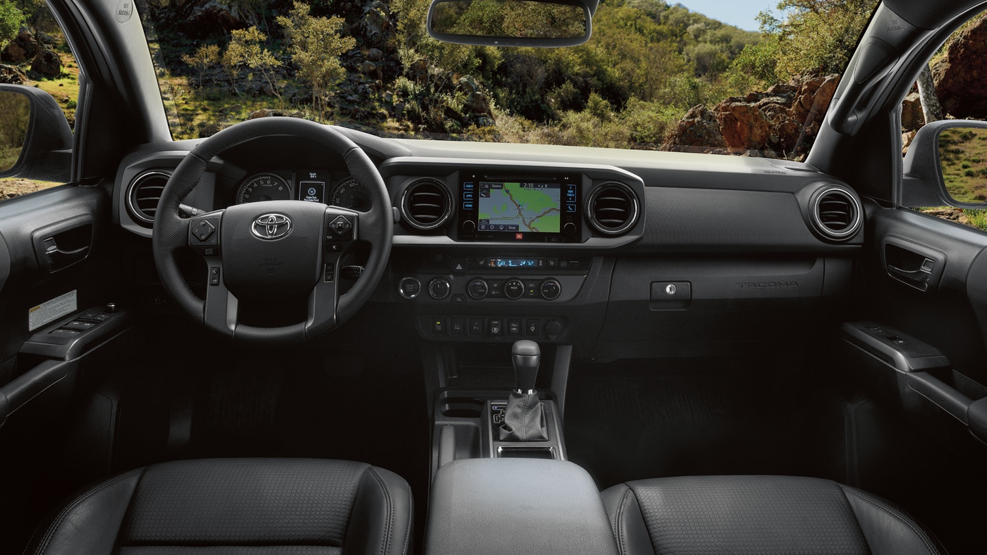 Interior of the 2019 Toyota Tacoma