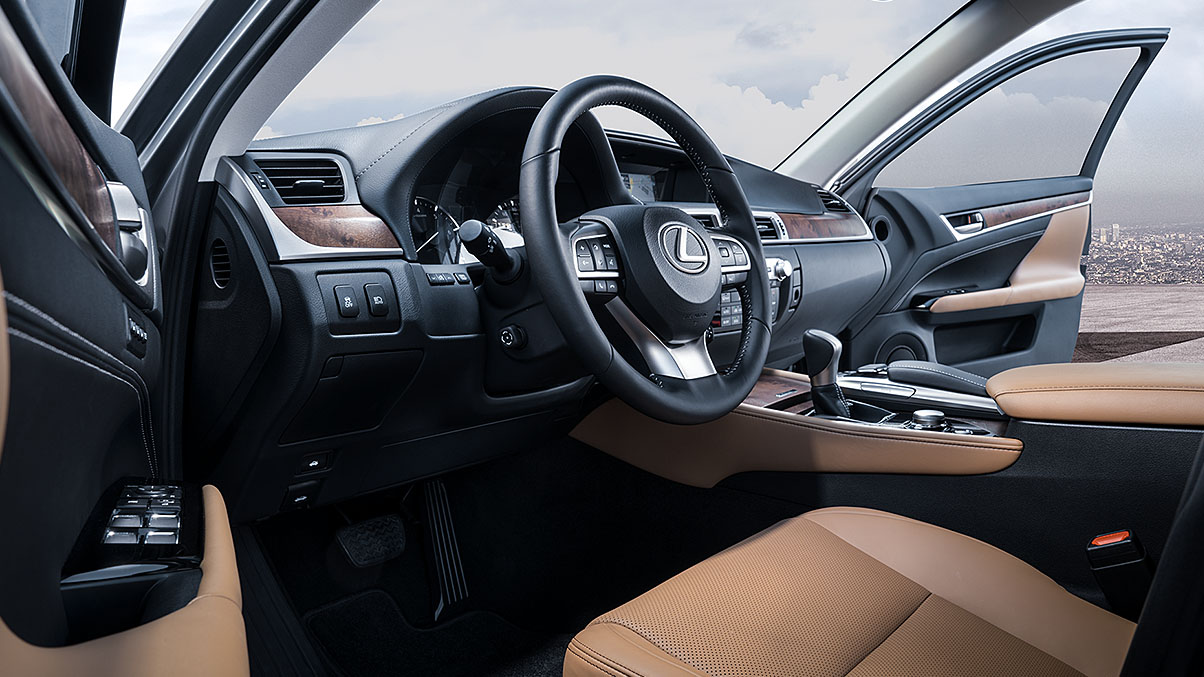 Interior of the 2019 Lexus GS 350