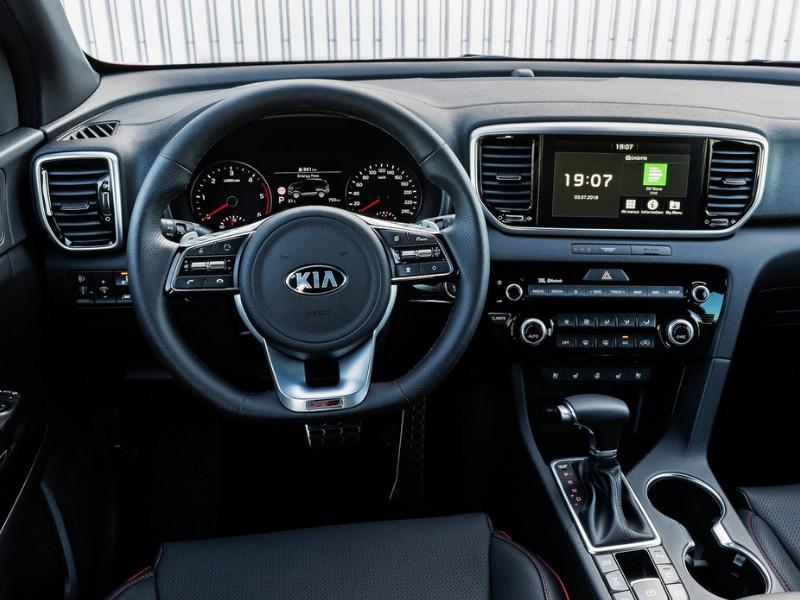 Interior of a 2019 Kia Sportage