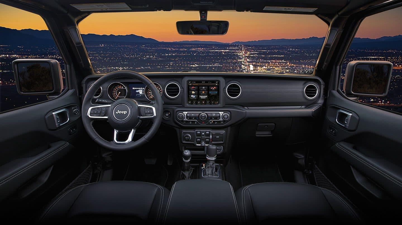 Interior of the 2019 Jeep Wrangler