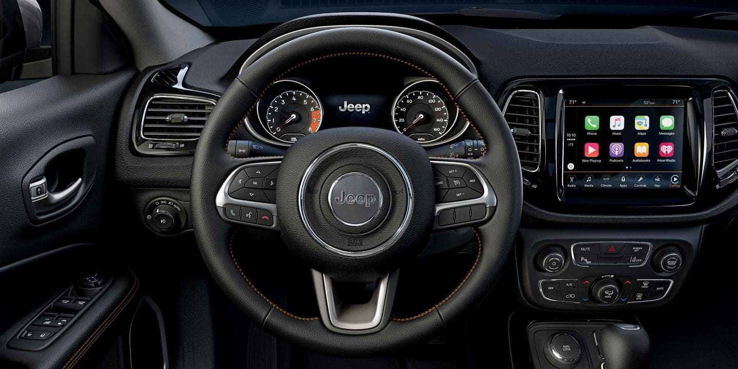 Interior of the 2019 Jeep Compass