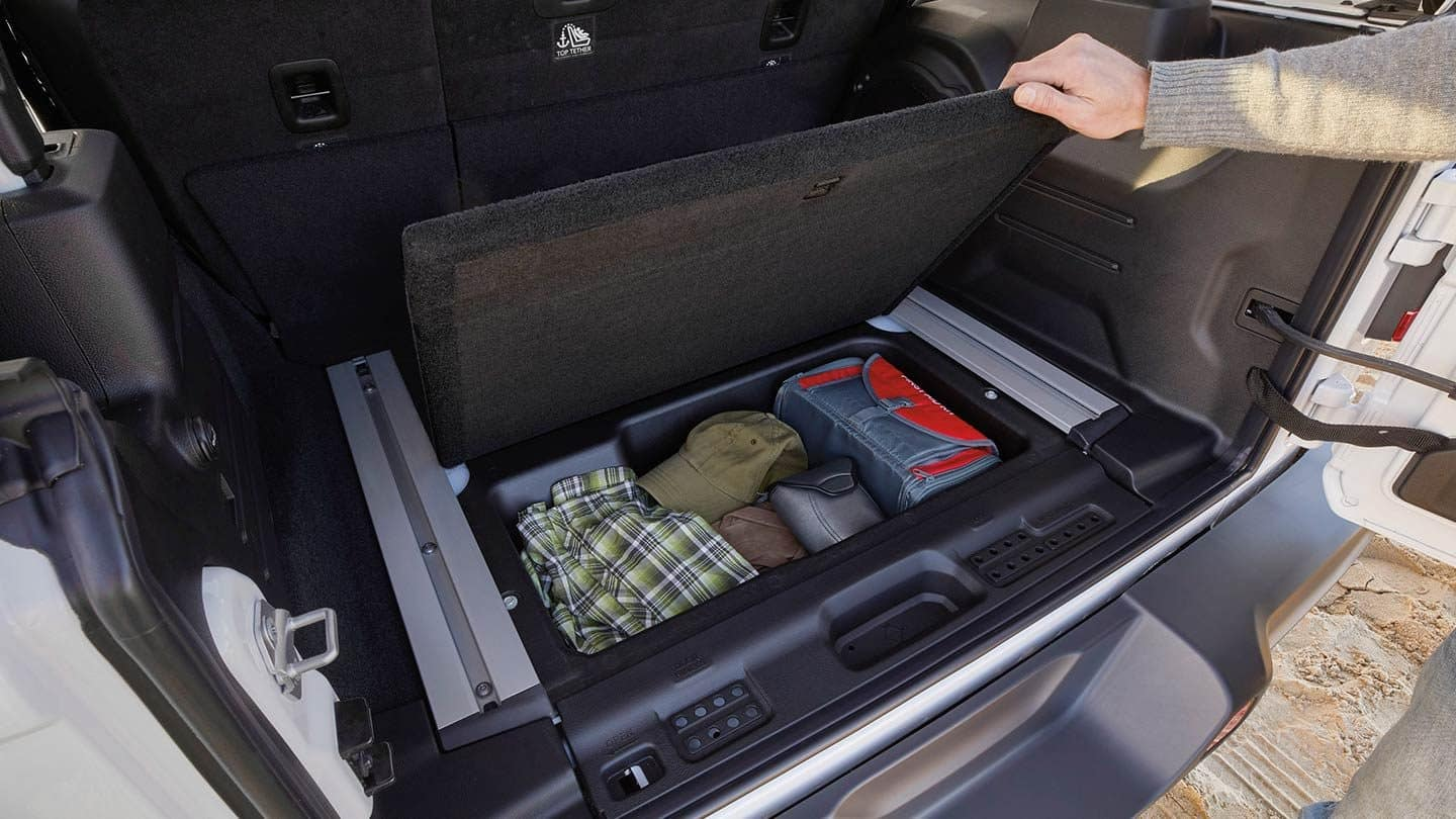 Store Your Gear Easily in the Wrangler!
