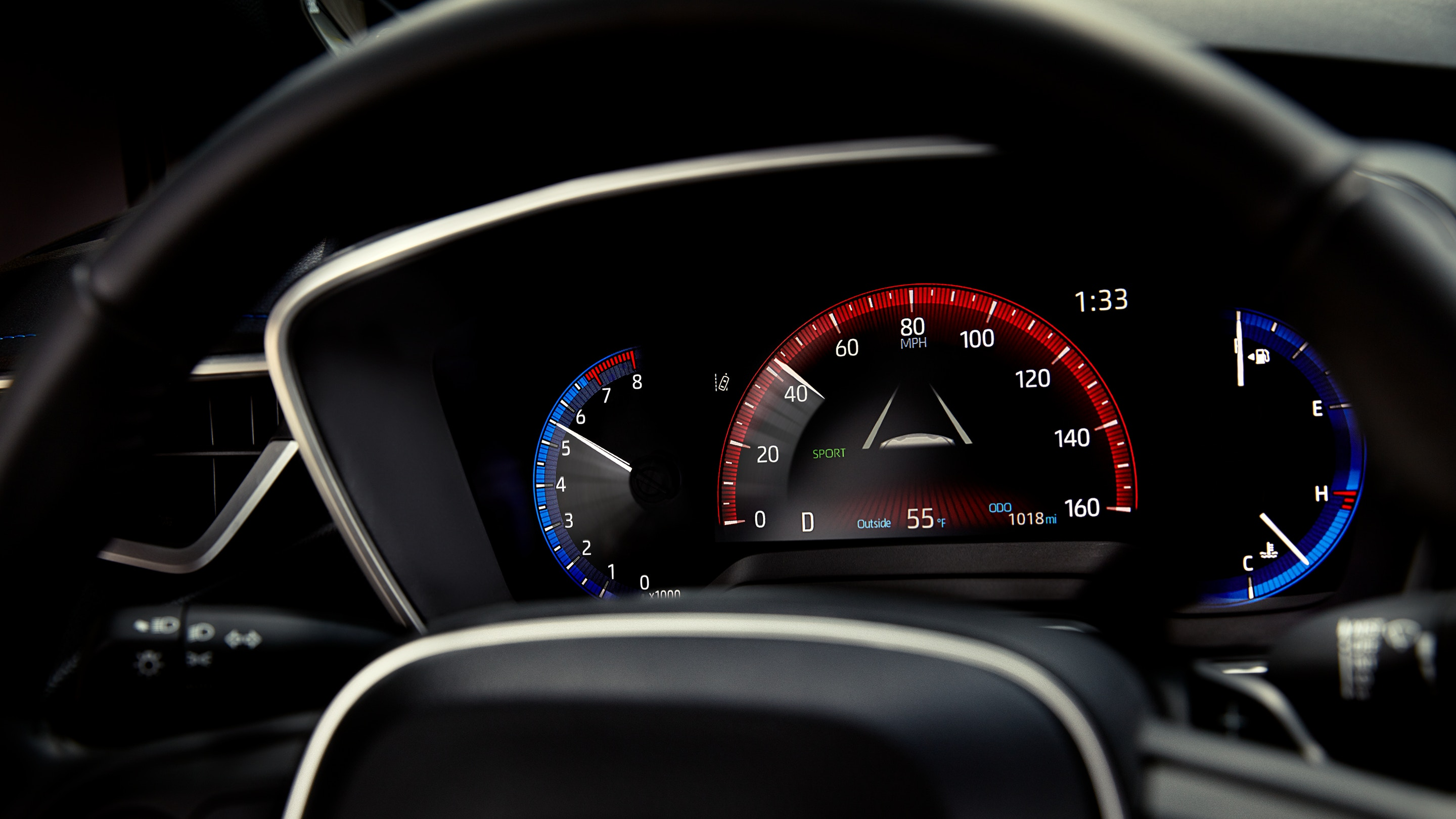 Instrument Cluster of the 2020 Corolla