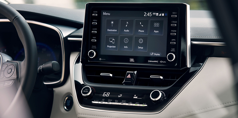 Advanced Media Hub of the 2020 Toyota Corolla