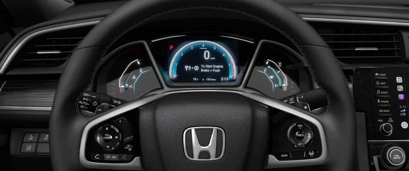 Interfaz de información para el conductor del Honda Civic 2019