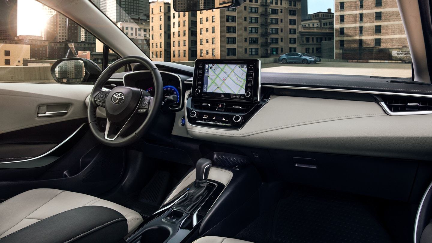 Interior of the 2020 Toyota Corolla