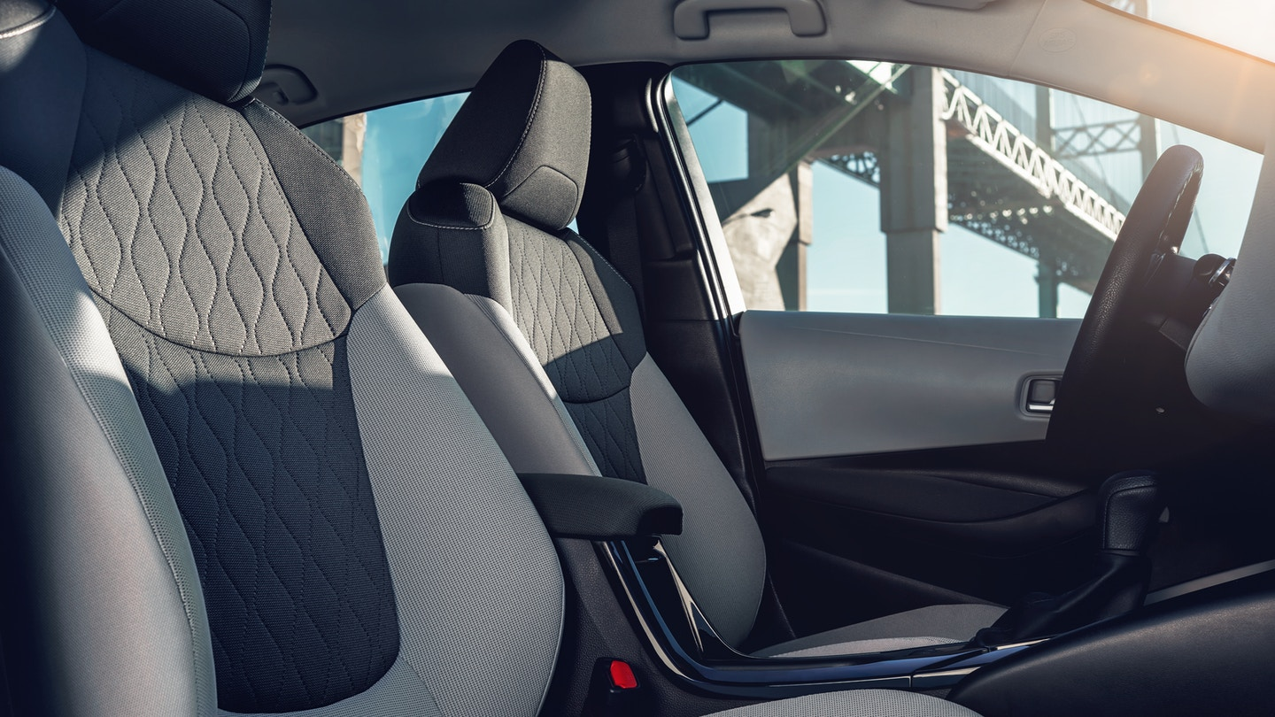 Front Row of the 2020 Toyota Corolla