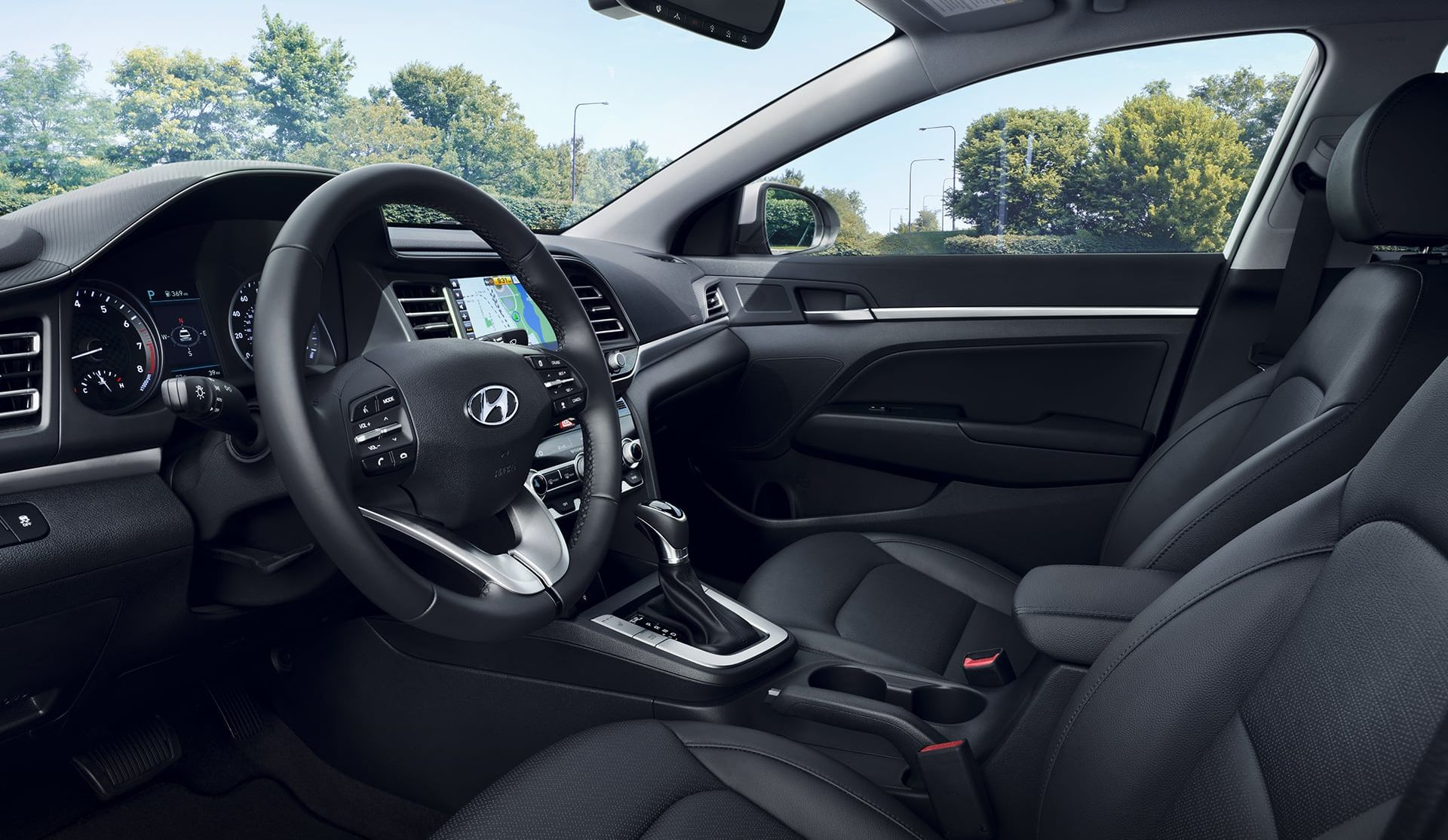 Upscale Cabin of the 2019 Hyundai Elantra