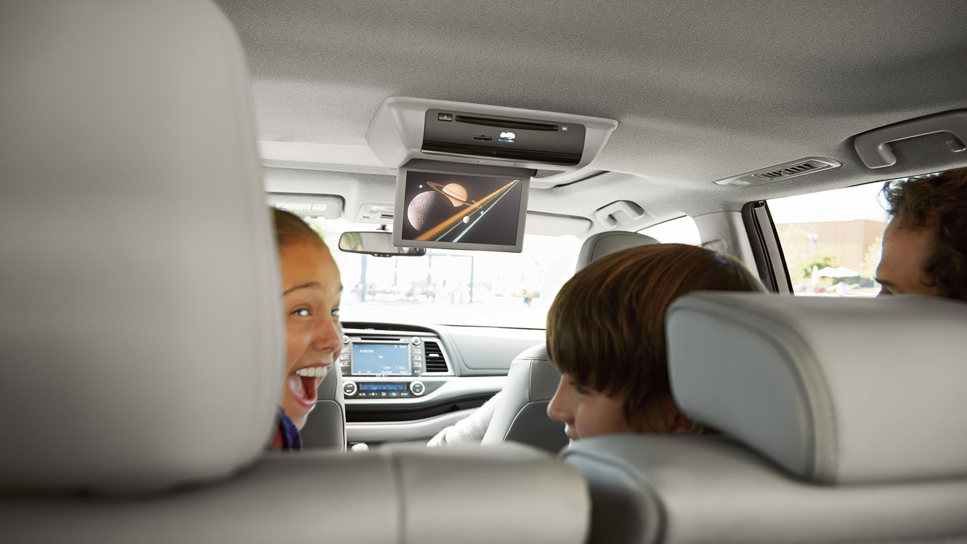 Rear Seat Entertainment in the 2019 Highlander