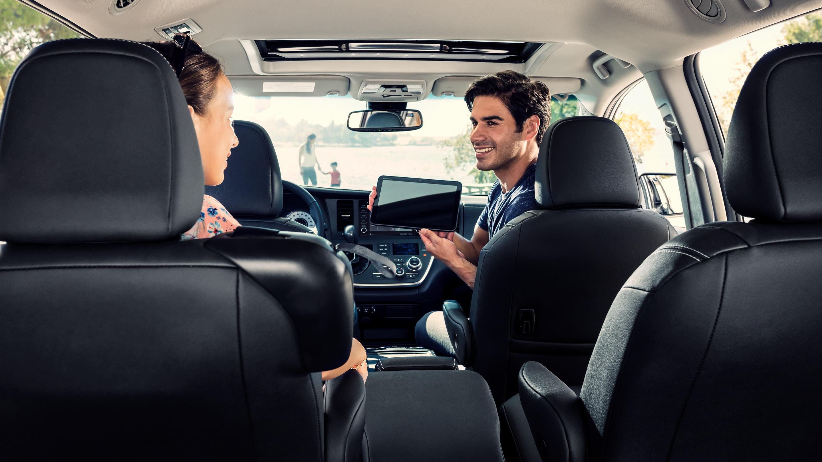 Interior of the 2020 Toyota Sienna