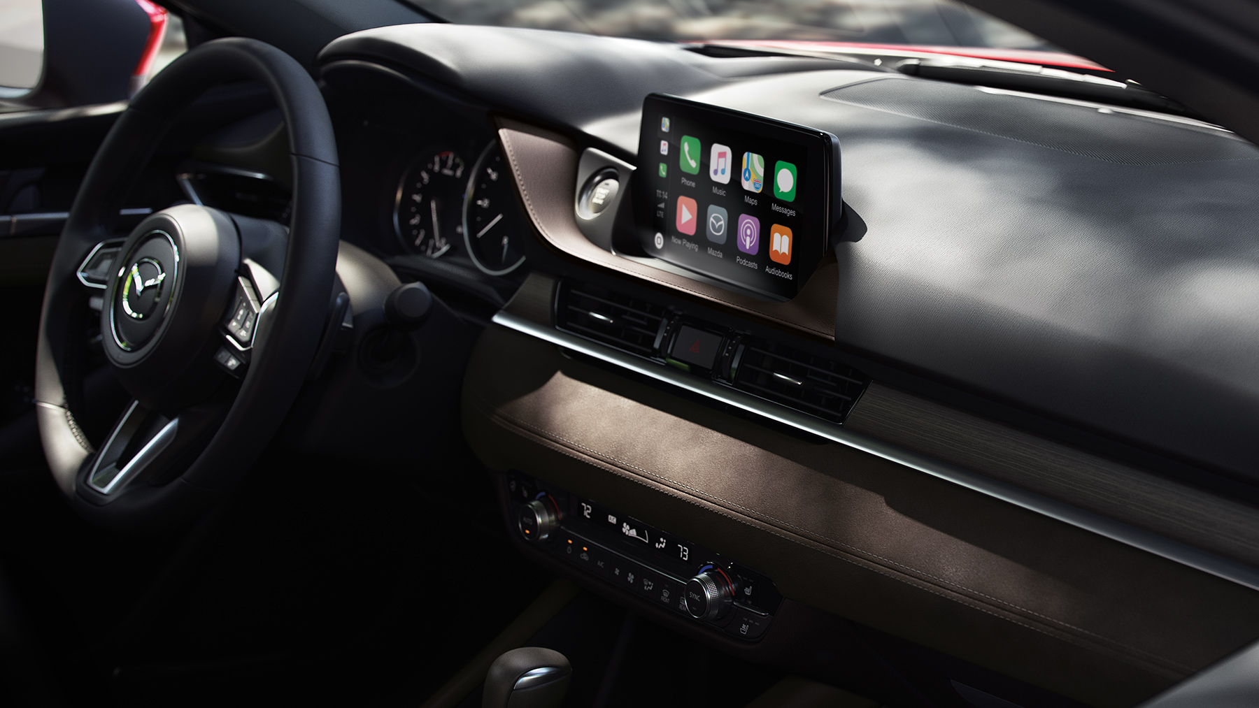 Interior of the 2019 Mazda6