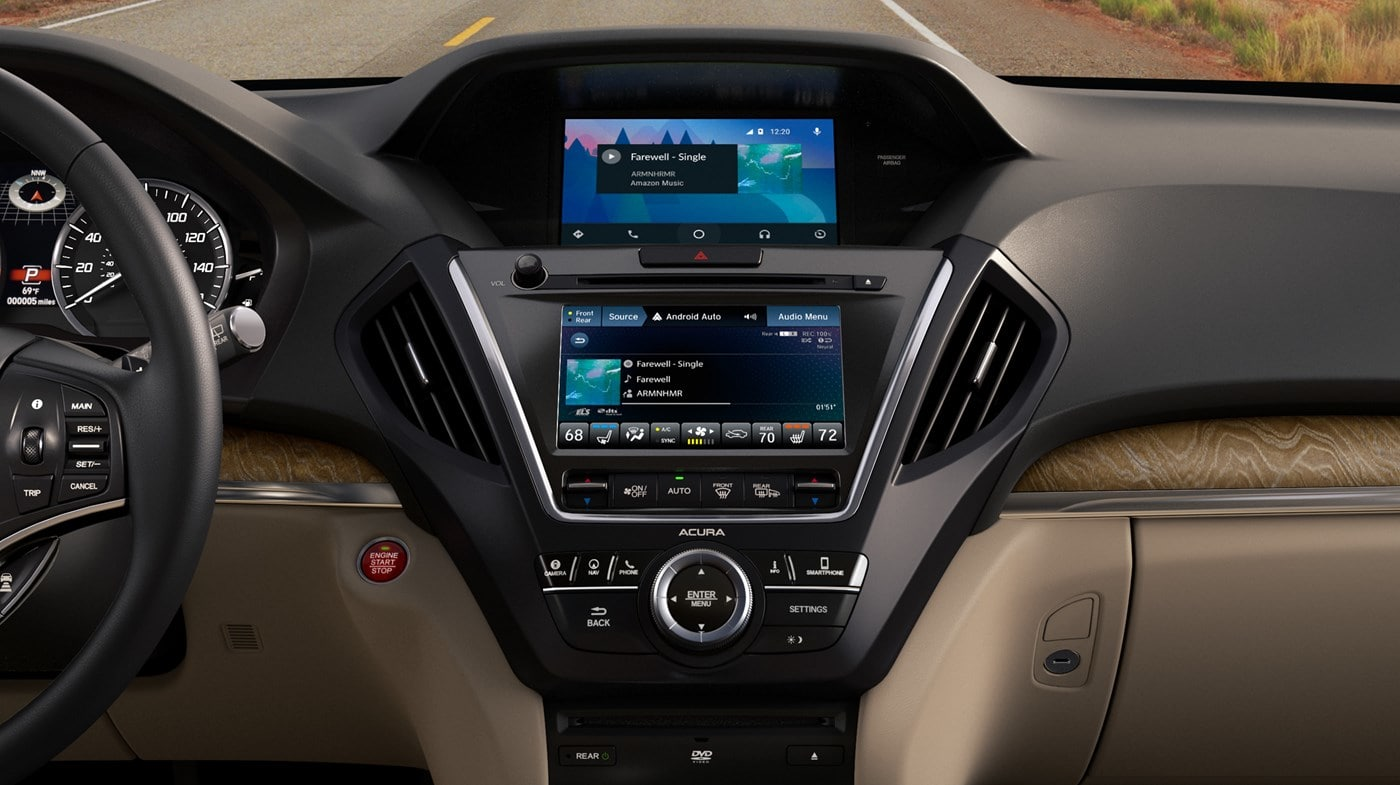 Entertainment Hub in the 2019 Acura MDX