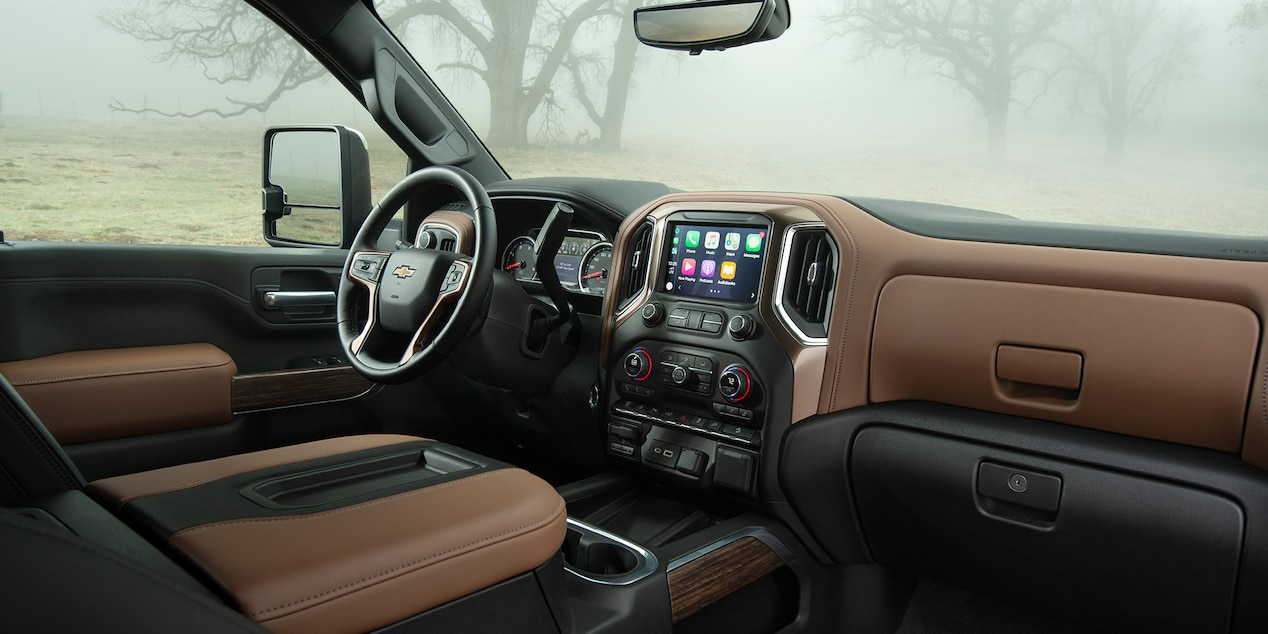 Interior of the 2019 Chevrolet Silverado 2500HD