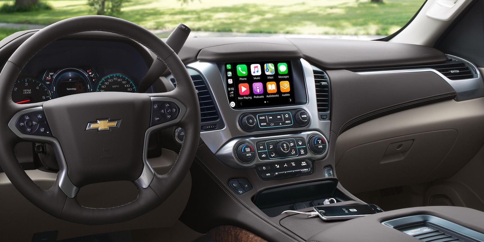 Interior of the 2019 Chevrolet Suburban