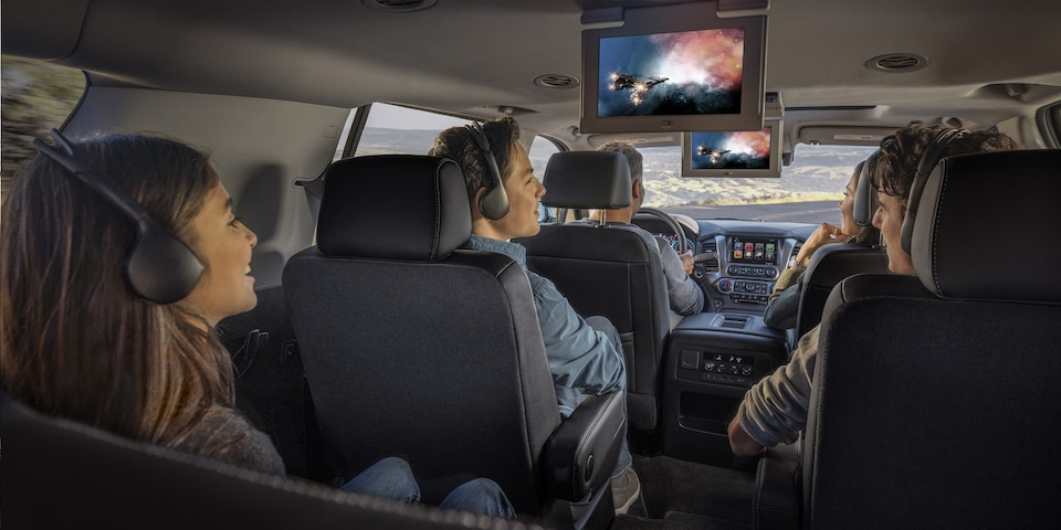 Rear Seat Entertainment in the 2019 Suburban
