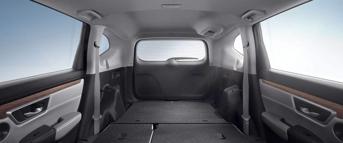 Con los asientos plegables la Honda CR-V 2019 ofrece mucha versatilidad