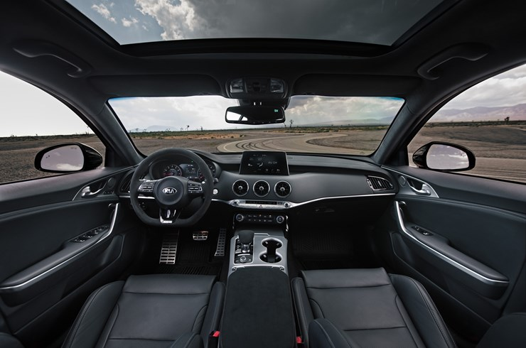Cabin of the 2020 Stinger GTS