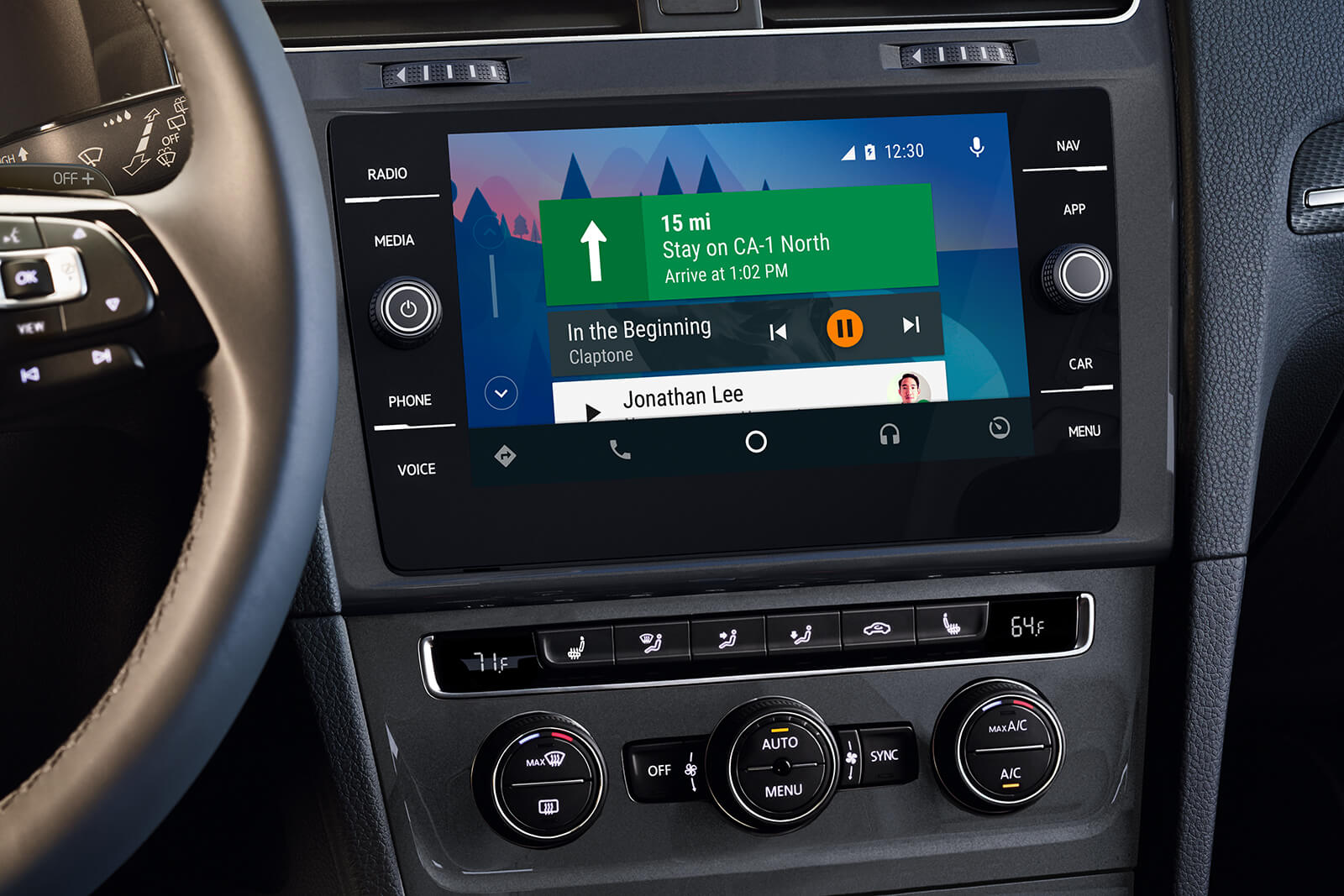 Touchscreen Display in the 2019 Golf Alltrack