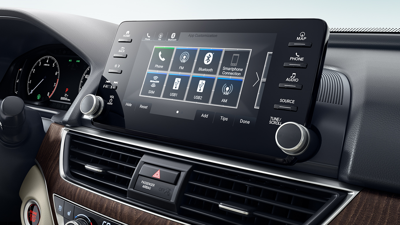 Touchscreen Display in the 2019 Accord