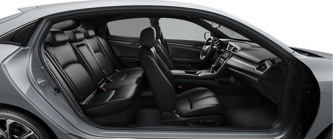 Spacious Interior of the 2019 Honda Civic Hatchback