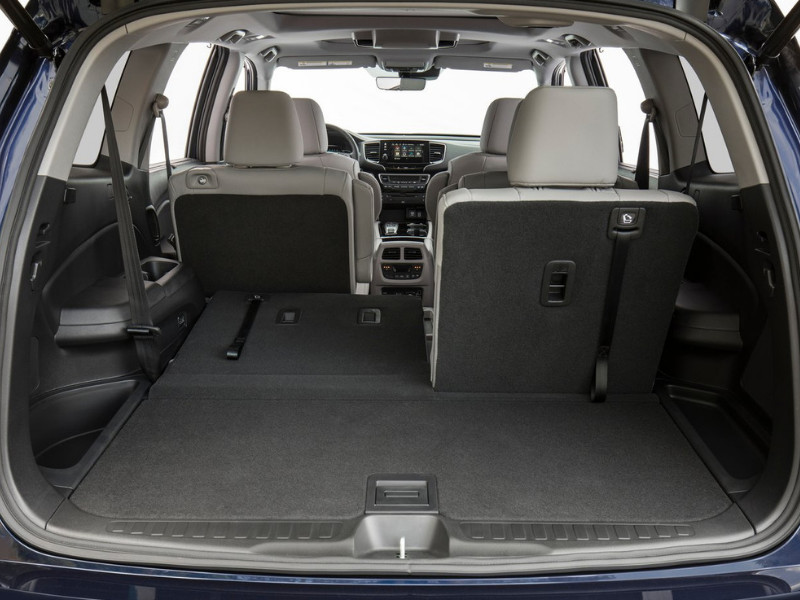 Interior view of the cargo space in a 2019 Honda Pilot
