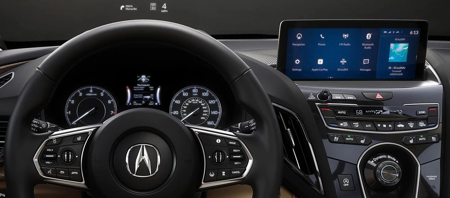The 2020 RDX's High-Tech Dashboard