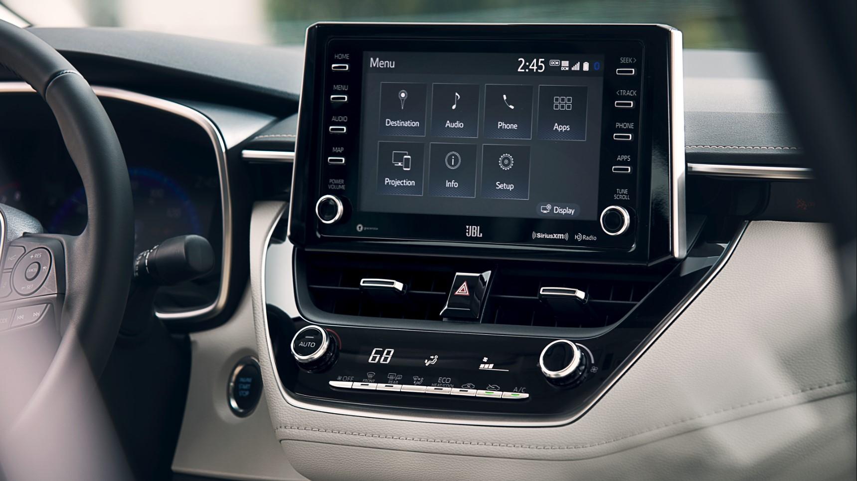2020 Corolla Hybrid Infotainment System