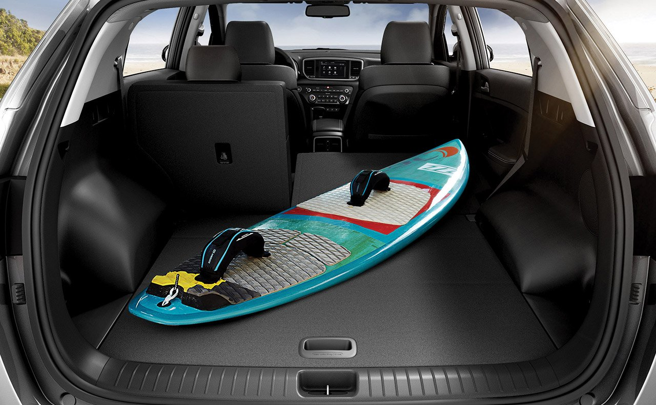 Spacious Cargo Room in the 2002 Sportage