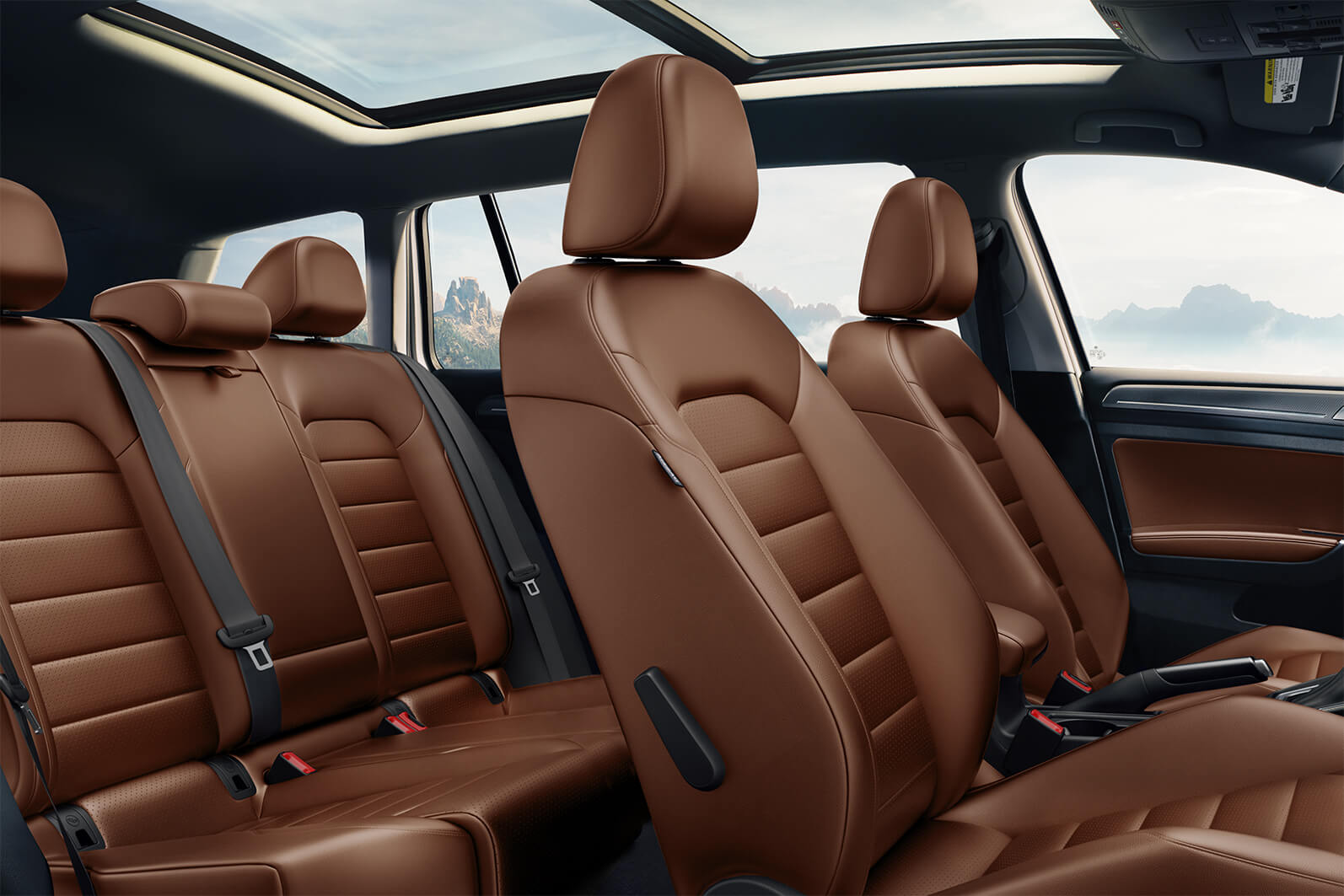 Interior color Marrakesh Brown del Golf Alltrack SEL 2019