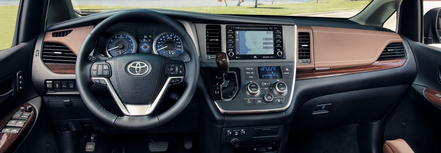 Interior of the 2020 Sienna