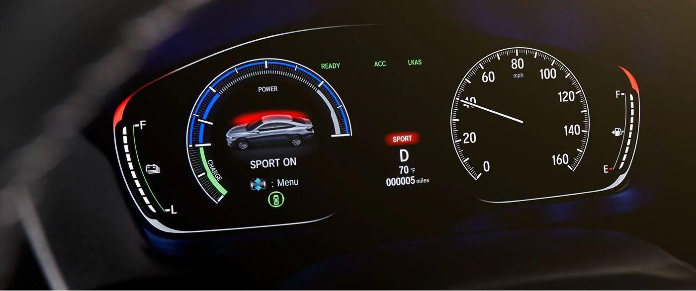 Interfaz de información para el conductor disponible en el Honda Insight 2019