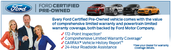 Ford Certified Pre Owned >> Certified Pre Owned From Prestige Ford