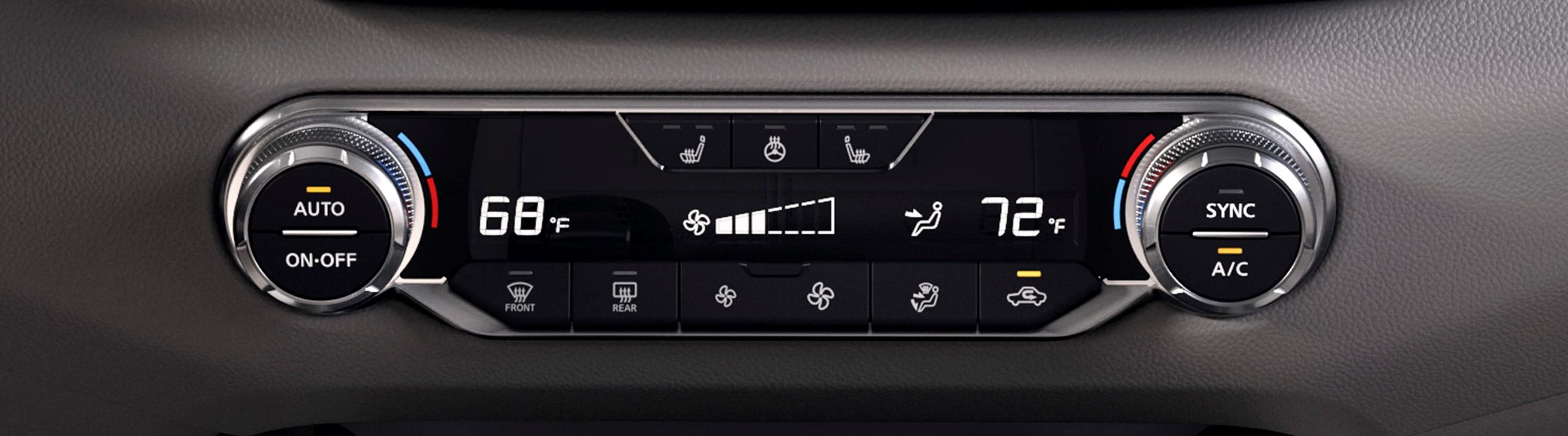 Climate Control Functions in the 2019 Altima