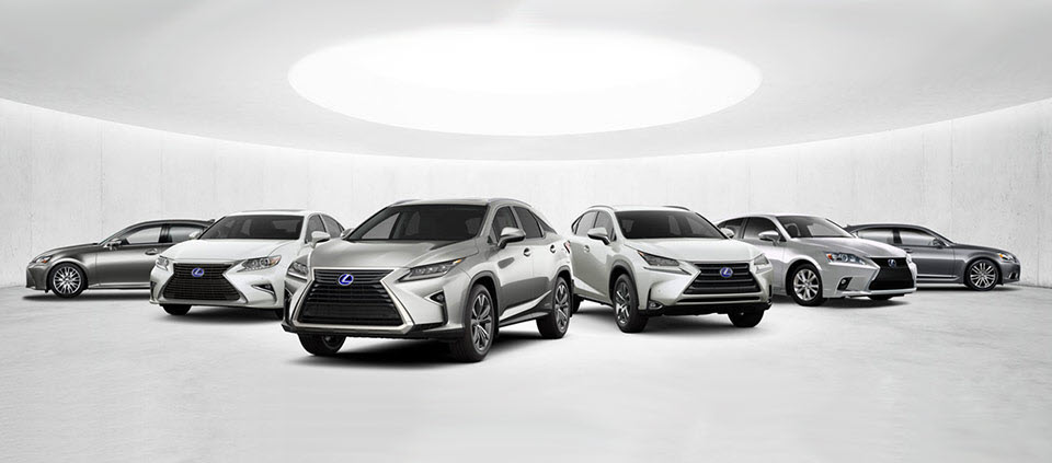 lexus fleet of cars