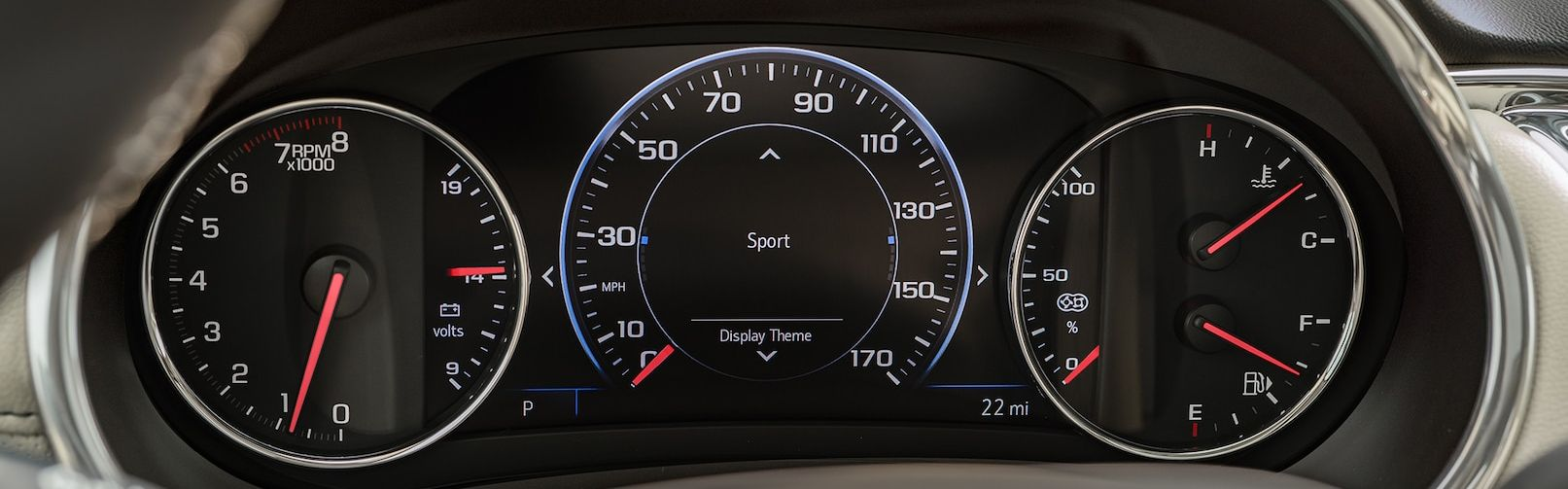 Dashboard of the 2019 Malibu