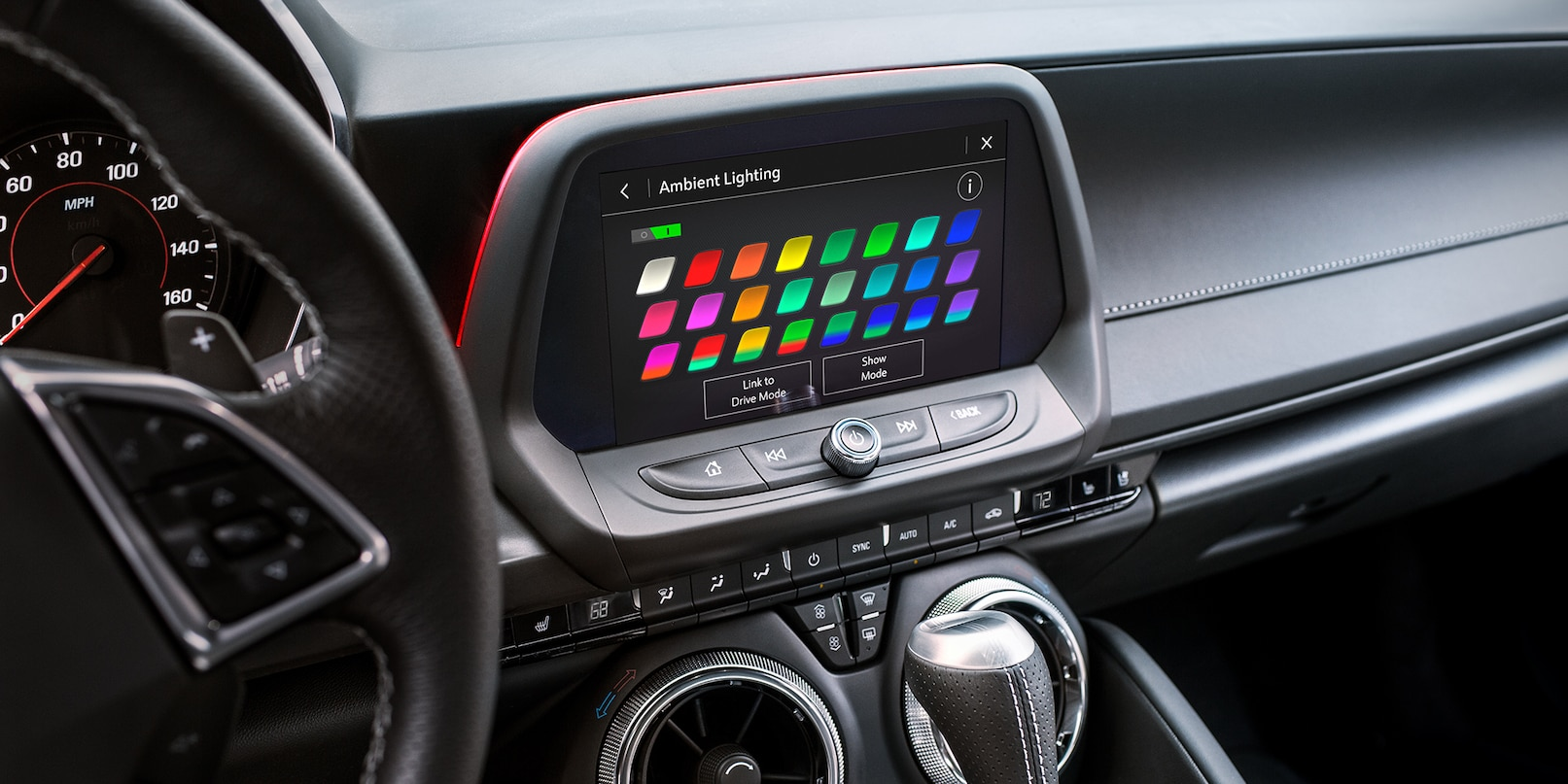 Ambient Lighting Choices in the 2019 Camaro