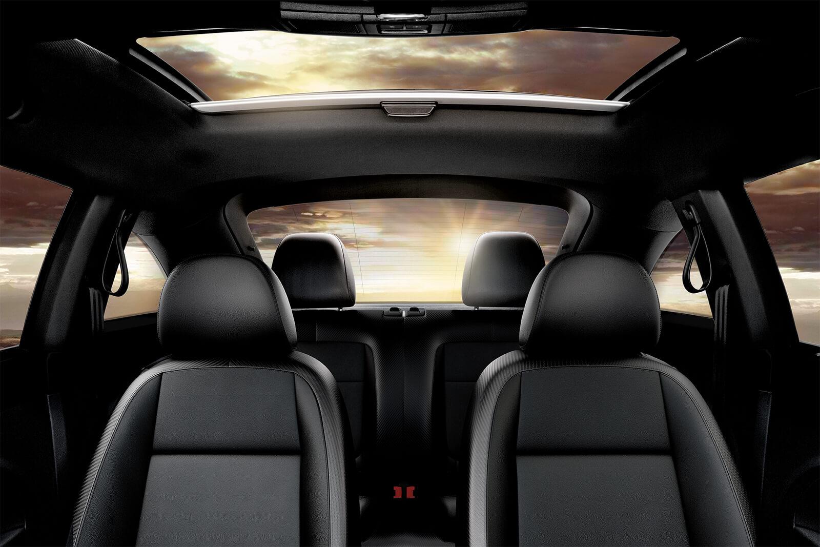Interior of the 2019 Volkswagen Beetle