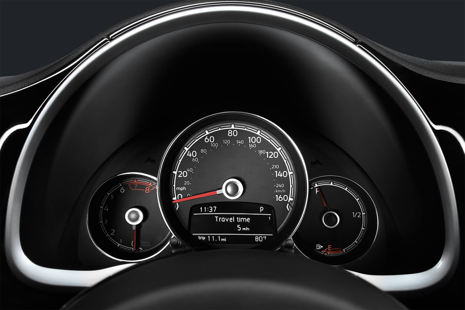 Dashboard in the 2019 Beetle