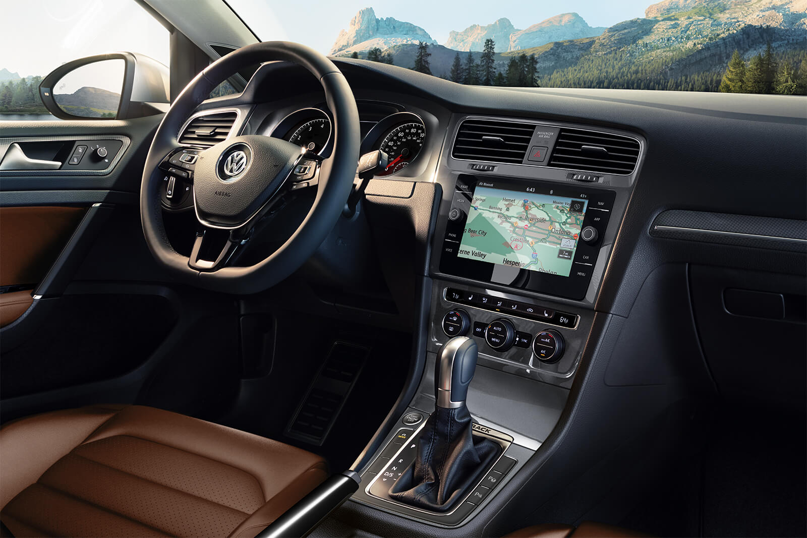 Interior of the 2019 Volkswagen Golf Alltrack