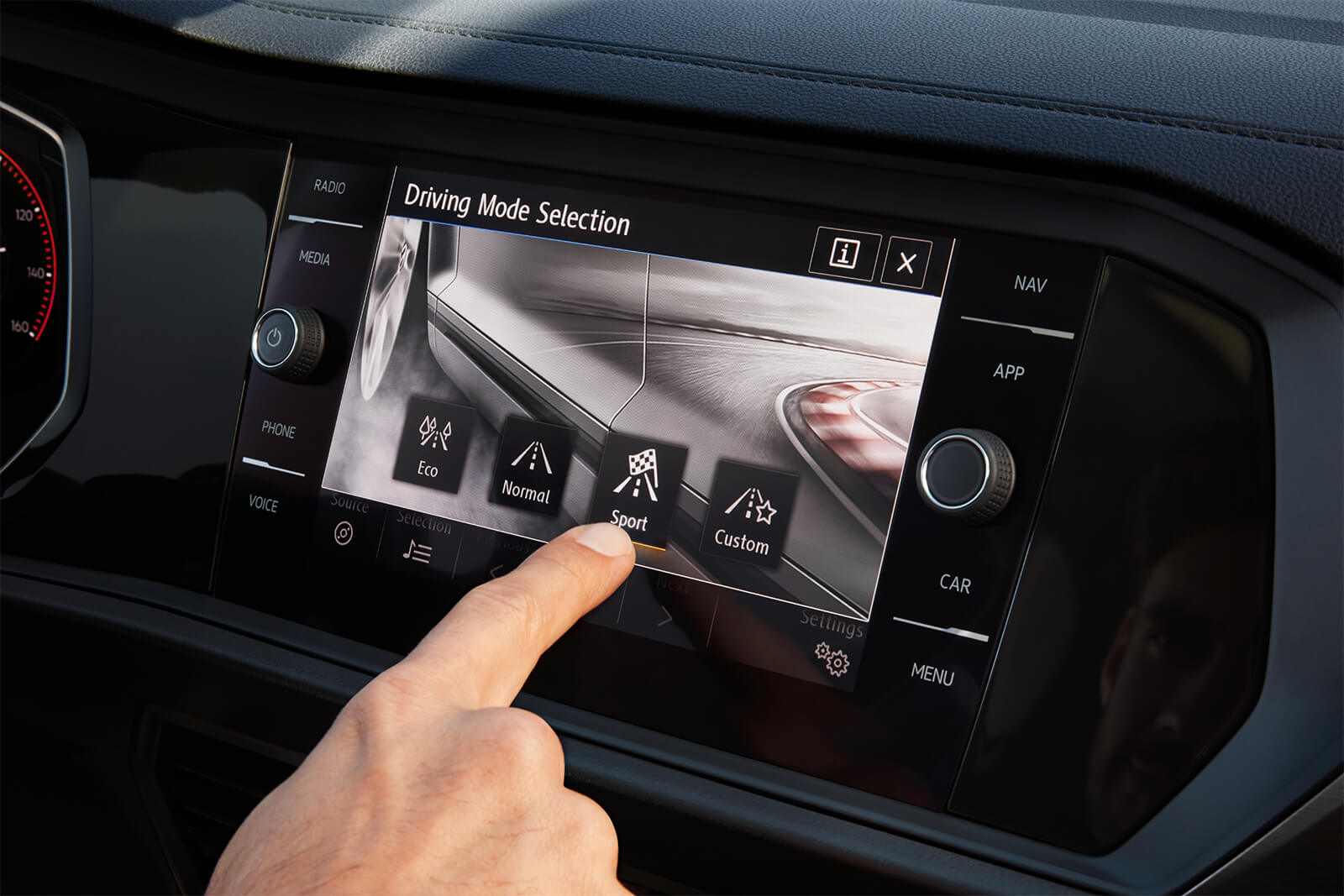 Touchscreen Display in the 2019 Jetta
