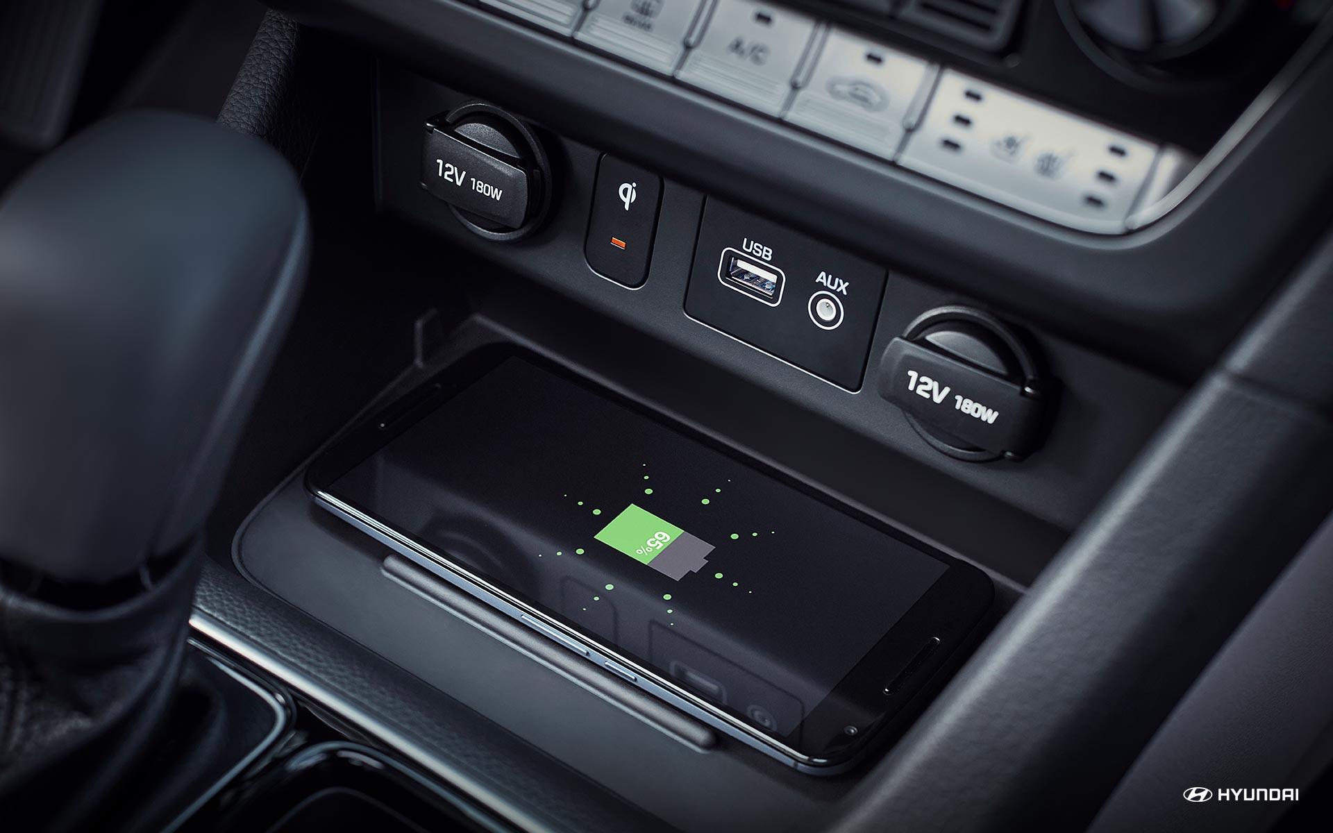 Wireless Charger on the 2019 Hyundai Sonata