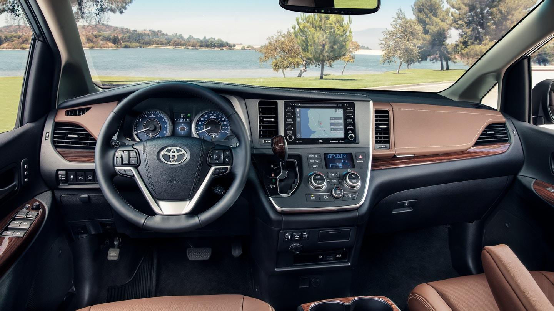 Interior of the 2020 Toyota Sienna