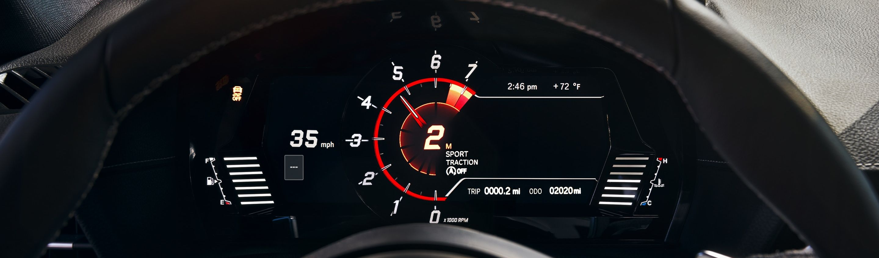 Instrument Cluster in the 2020 Supra