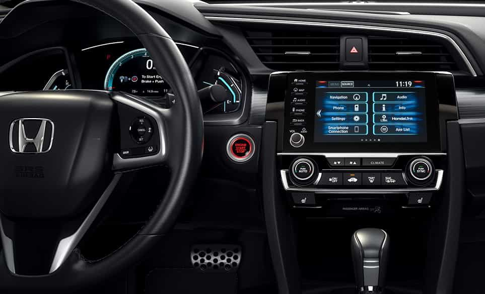 The 2019 Civic's High-Tech Dashboard
